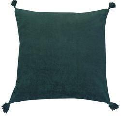 Achat en ligne Coussin en velours de coton Nala vert cèdre 50x50cm