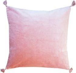 Achat en ligne Coussin en velours de coton Nala rose fané 50x50cm