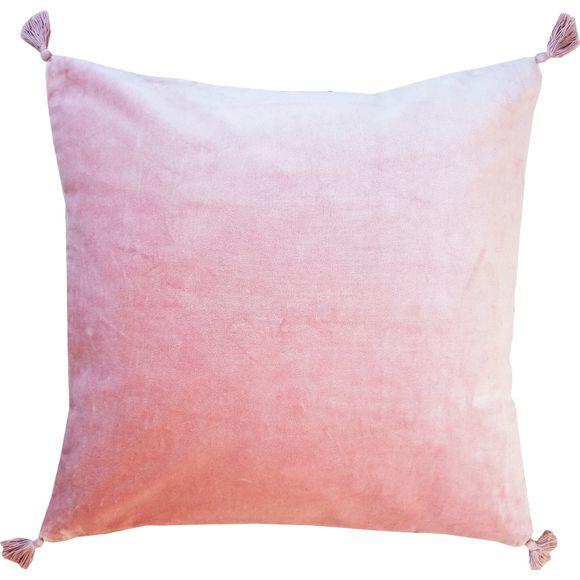 Cuscino quadrato in velluto rosa 50x50cm