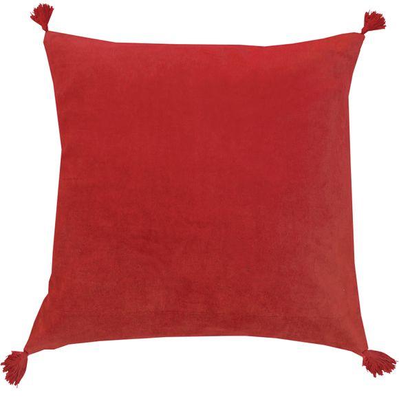 Achat en ligne Coussin en velours de coton Nala rouge laque 50x50cm