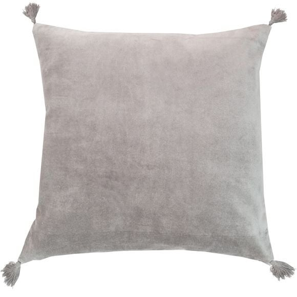 Achat en ligne Coussin en velours de coton Nala gris tourterelle 50x50cm