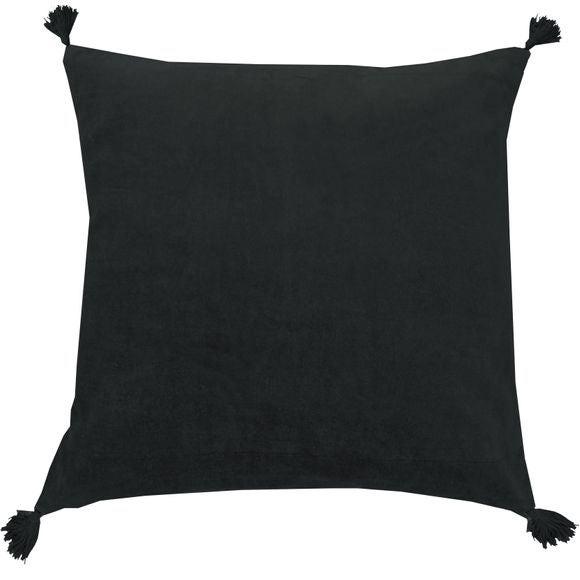 Achat en ligne Coussin en velours de coton Nala charbon 50x50cm