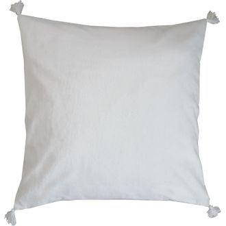 Coussin en velours de coton nala gris titane 50x50cm