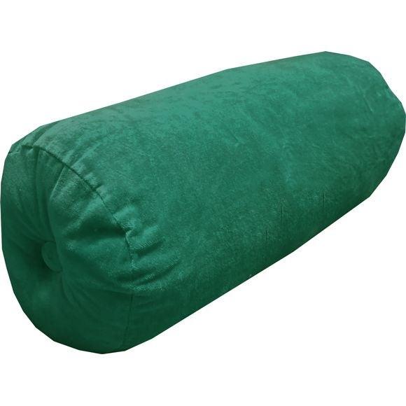 Accoudoir en velours de coton Nala vert malachite Ø18X40cm