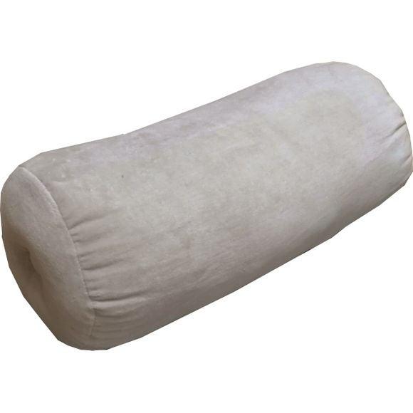 Achat en ligne Accoudoir en velours de coton Nala gris tourterelle Ø18X40cm