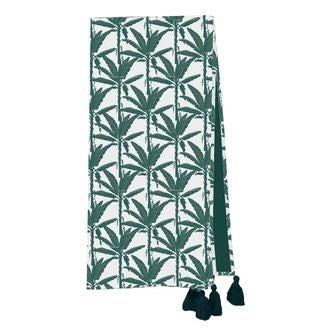 Plaid en velours de coton Nala vert malachite 130x150cm