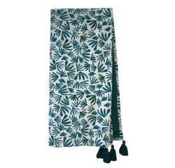 Achat en ligne Plaid en velours de coton Nala bleu peacock 130x150cm
