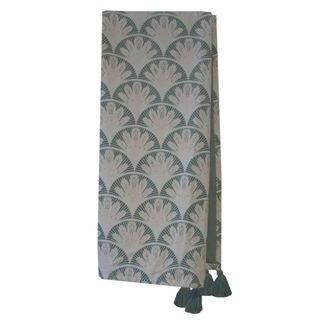 Plaid en velours de coton Nala gris fumée 130x150cm