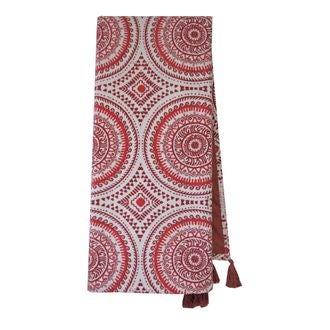 Plaid en velours de coton nala rouge terracotta 130x150cm