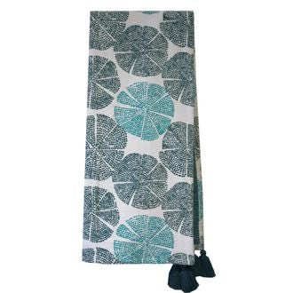Plaid en velours de coton Nala bleu postal 130x150cm