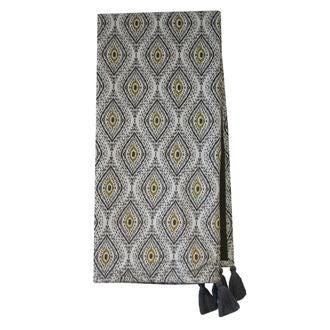 Plaid en velours de coton Nala gris souris 130x150cm