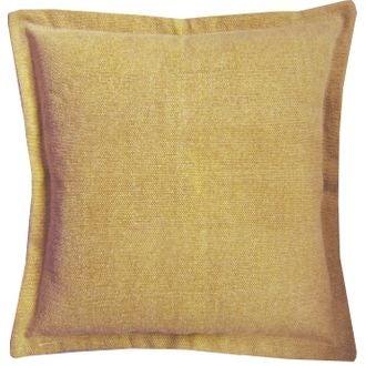 Coussin de sol en canvas Côme jaune curry 60x60cm