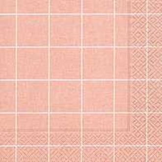 20 serviettes 33x33 Home square rosé