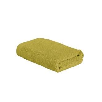 Serviette invité 30x50cm en coton éponge warm olive
