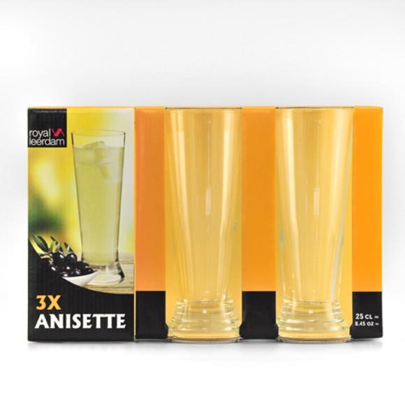 3 verres à anisette 25cl