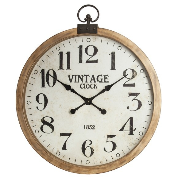 Horloge gousset bois 74cm