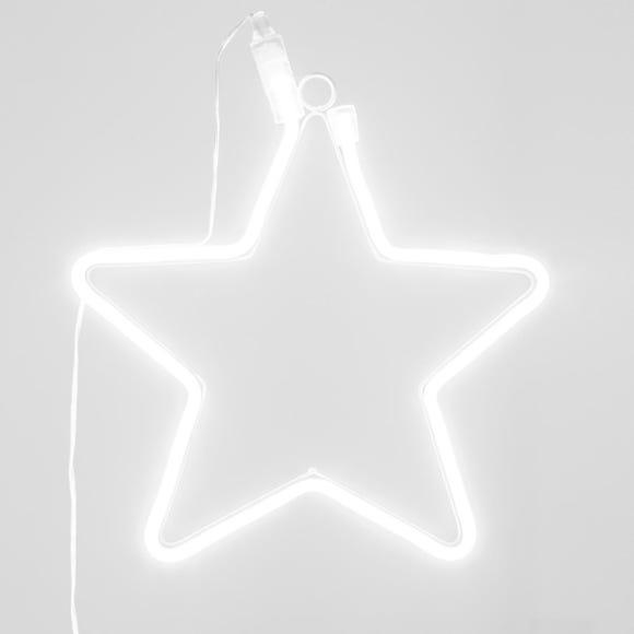 Achat en ligne Nuage néon à suspendre blanc 10x13cm