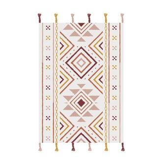 Tapis en coton imprimé equilibre 120x170cm