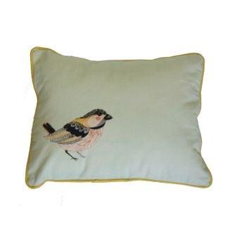 Zodio - coussin en coton imprimé bird softwear vert 30x40cm