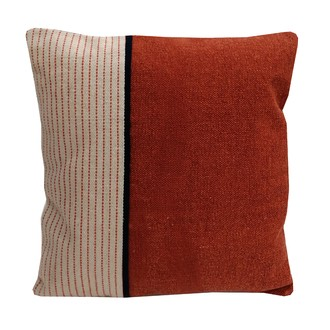 Coussin en coton rayé bicolore ezpeleta 40x40cm