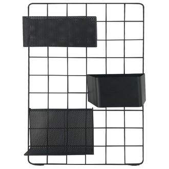 Pegboard métal filaire noir 60x40x10cm