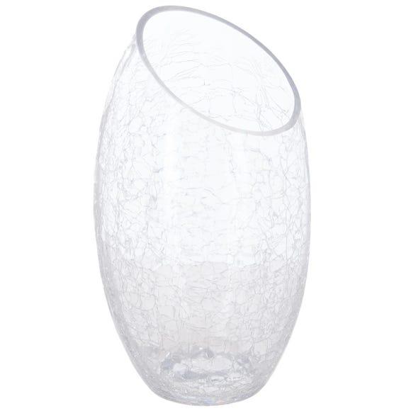 Achat en ligne Vase en verre craquelé 23cm