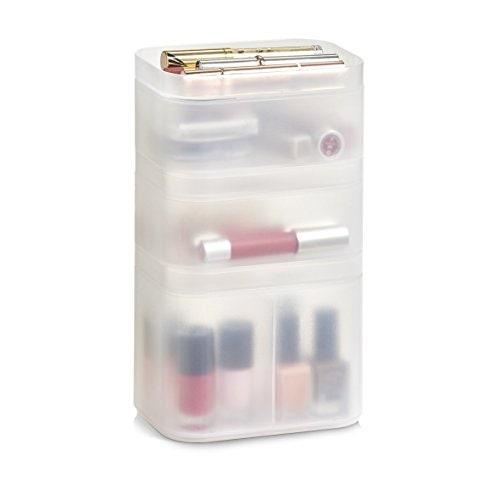 Achat en ligne Set 3 boîtes rangement pour maquillage empilable
