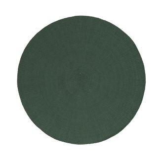 Set de table rond gris vert diamètre 38 cm