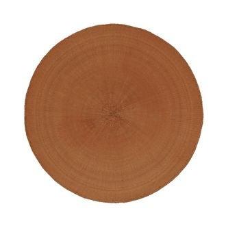 Set de table rond orange diamètre 38 cm