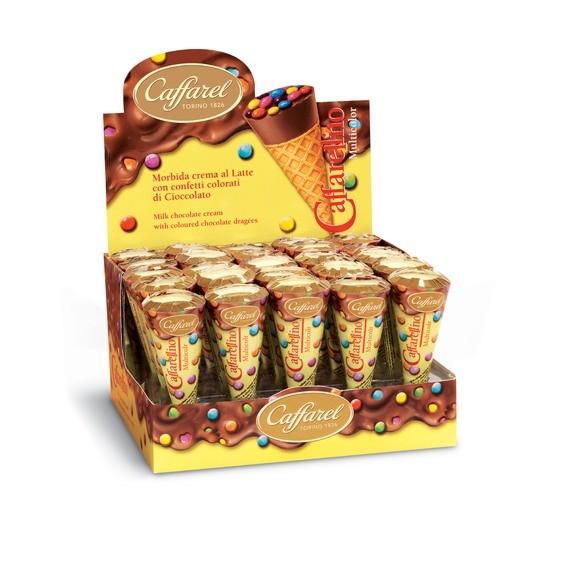 Cornet gaufrettes chocolat et dragées multicolor