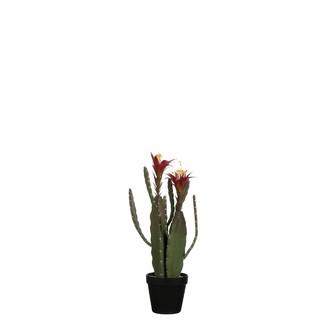 Cactus artificiel en pot plastique 47x12,5cm