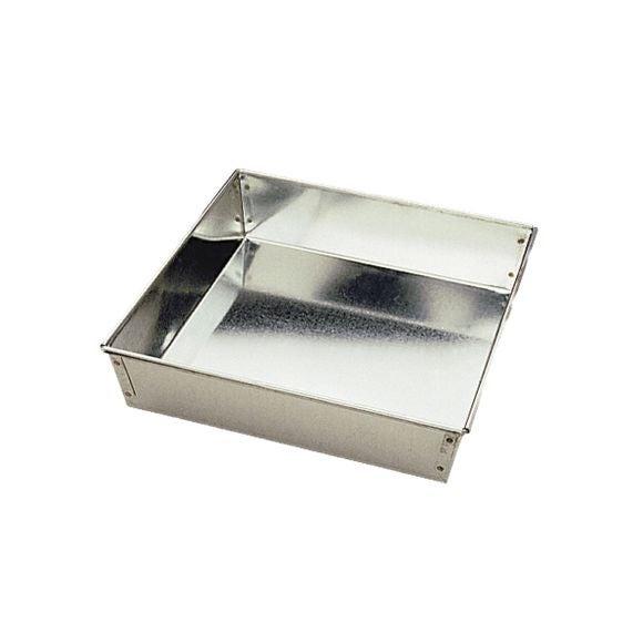 Stampo bordi alti quadrato in latta base fissa 22 cm