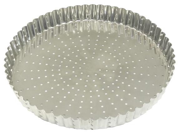 Achat en ligne Mouel à tarte pérforé en fer blanc 24cm