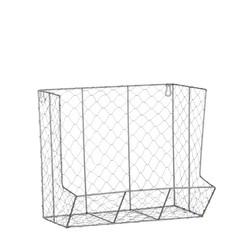 Achat en ligne Etagère grillage à poule gris 35x21x30cm