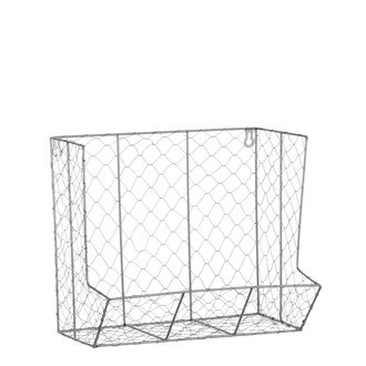 Etagère grillage à poule gris 35x21x30cm