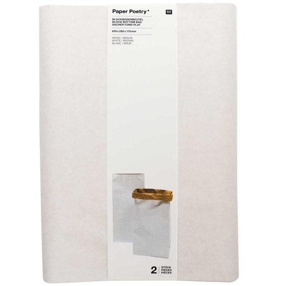 Achat en ligne Sachet blanc/brun L