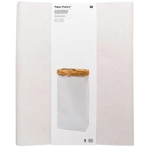 Achat en ligne Sachet blanc/brun XL