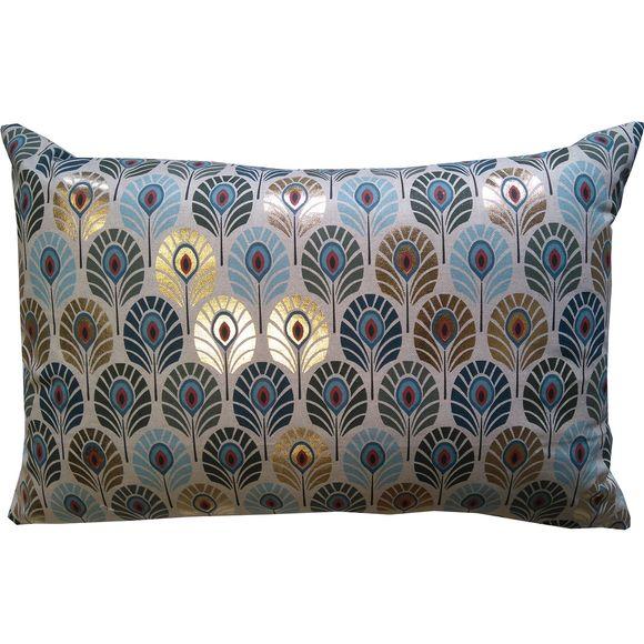 acquista online Cuscino rettangolare in policotone decori blu oro 60x40cm
