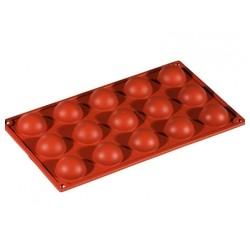 Achat en ligne Moule 3D mini demi-sphères en silicone 30x17,5cm