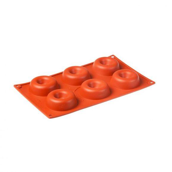Stampo 6 ciambelle in silicone