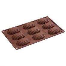 Achat en ligne Moule à 9 madeleines en silicone 30x17,5cm