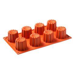 compra en línea Molde para 8 flanes o canelés de silicona (30 x 17,5 cm)