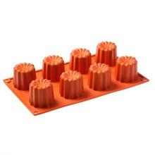 Achat en ligne Moule à 8 cannelés en silicone 30x17,5cm