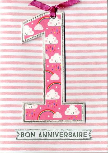 Carte Anniversaire Double 3d 12x17 Avec Enveloppe Pas Cher Achat En Ligne Zodio