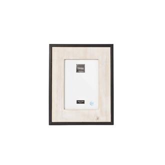 Cadre photo 10x15cm bois contour métal 27x21,5cm