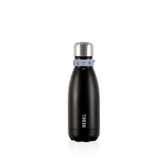 Bottiglia termica in metallo nero opaco 28cl