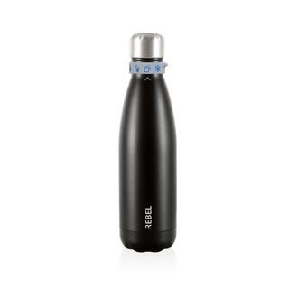 Bottiglia termica in metallo nero opaco 50cl