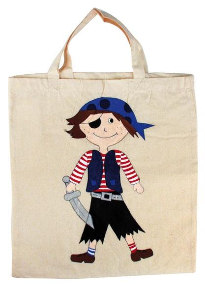 Achat en ligne Tote bag pirate à colorier