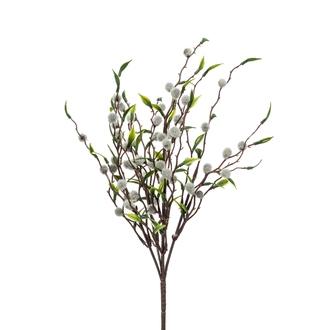 Branche ramifiée artificielle de saule chaton 28cm