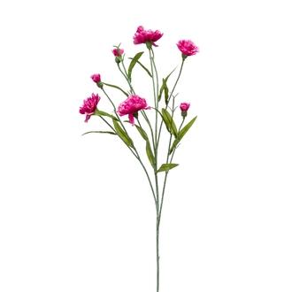Tige ramifiée artificielle de dianthus rose 70cm